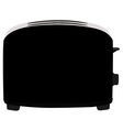 Black toaster vector image vector image