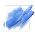 blue watercolor texture on a white background vector image vector image