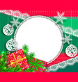bright congratulatory design christmas vector image vector image