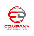 cd logo vector image vector image