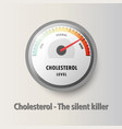 cholesterol meter read high level result vector image vector image