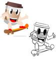 coffee colored mascot logo premium image vector image vector image