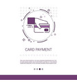 credit bank card payment hold hand web banner with vector image vector image