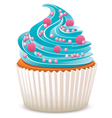cupcake with sprinkles vector image vector image