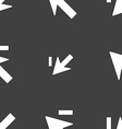 Cursor arrow minus icon sign Seamless pattern on a vector image vector image