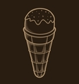 Detailed graphic ice cream vector image vector image