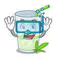 diving lassi juice bhang in botlo character vector image
