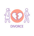 divorcing couple concept icon vector image vector image