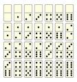 Domino set vector image vector image