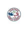 eagle dragon logo design template vector image vector image