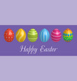 easter egg icons geometric design texture vector image vector image