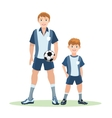 Father and son soccer team vector image vector image