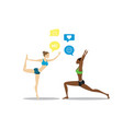 fitness and socializingmulticultural vector image vector image