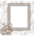 Frame in vintage style vector image vector image