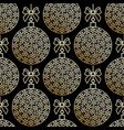 golden seamless pattern with christmas balls vector image vector image