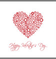 happy valentines day card with abstract heart vector image vector image