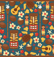 hawaii seamless pattern vector image vector image