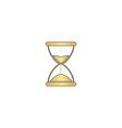 hourglass computer symbol vector image vector image