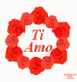 i love you background in italian language vector image