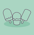ice cream shop isolated icon vector image vector image