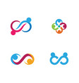 infinity adoption and community care logo vector image vector image
