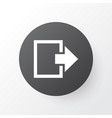 log out icon symbol premium quality isolated exit vector image