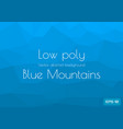 low poly cyan blue abstract background in the vector image vector image