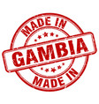 made in gambia red grunge round stamp vector image vector image