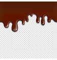 melted chocolate dripping cacao drip element vector image vector image