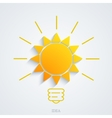 modern idea with sun background vector image vector image