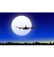 Moon and Night Flight vector image vector image