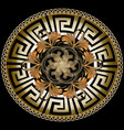 ornate golden 3d greek mandala pattern with vector image vector image