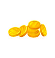 pile of shiny golden coins money and finance vector image vector image