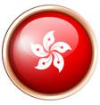 round badge with hongkong flag vector image vector image