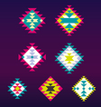 set decorative ethnic with american indian vector image vector image
