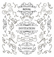 set of classic swirls luxury design vector image