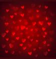 shiny hearts bokeh vector image vector image