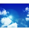 Sky layered vector image vector image