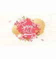 spring sale banner with vector image vector image