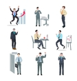 Successful Businessman Set vector image
