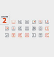 tablet ui pixel perfect well-crafted thin vector image vector image