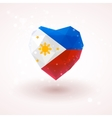 The flag of Philippines in shape diamond glass vector image vector image