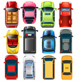 Top view of different cars vector image vector image