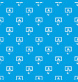 touch screen tablet click pattern seamless blue vector image vector image