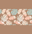 tropical seamless pattern with abstract leaves