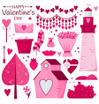 valentines day set vector image