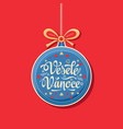 vesele vanoce greeting card in ball form vector image vector image