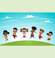 welcome back to school cute school kids vector image vector image
