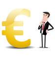 which future for euro currency vector image vector image