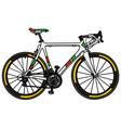 White road racing bike vector image